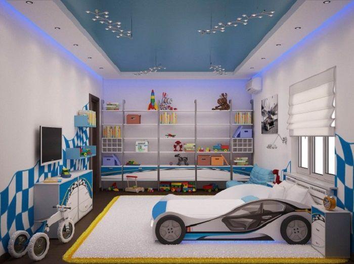 Car Themed Boy Kid Room Design   Kids room design, Car themed
