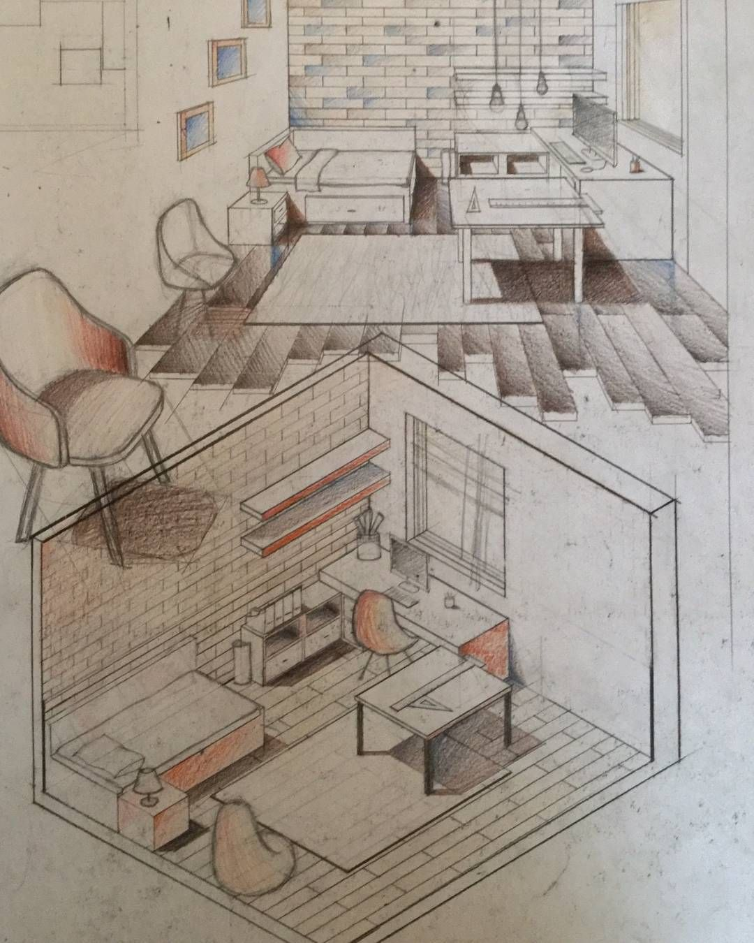 perspective drawings of buildings. #design #drawing #architecture #art #sketching #buildings #perspective\u2026 Perspective Drawings Of Buildings