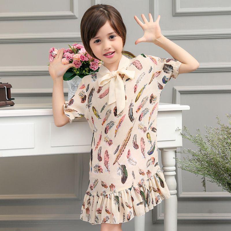 $21.60 (Buy here: https://alitems.com/g/1e8d114494ebda23ff8b16525dc3e8/?i=5&ulp=https%3A%2F%2Fwww.aliexpress.com%2Fitem%2FSummer-Korean-Sweet-Girls-Straight-Dress-Kids-Clothes-Feather-Pattern-Print-Dresses-Children-Cloth%2F32677252932.html ) Summer Korean Sweet Girls Straight Dress Kids Clothes Feather Pattern Print Dresses Children Cloth for just $21.60