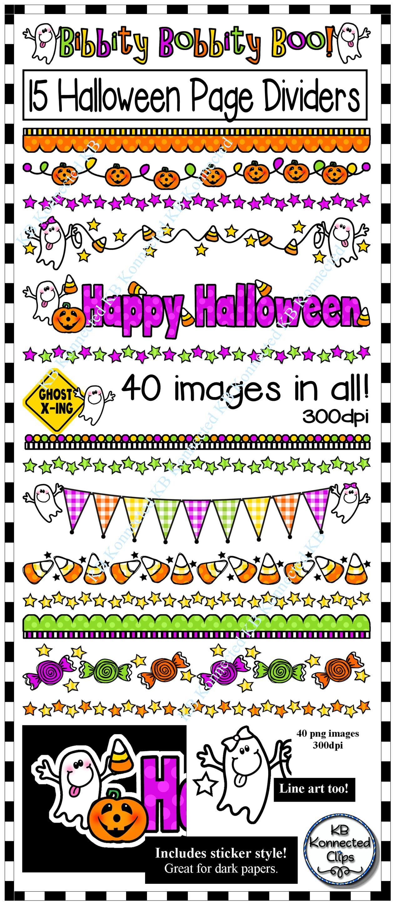Halloween Page Dividers