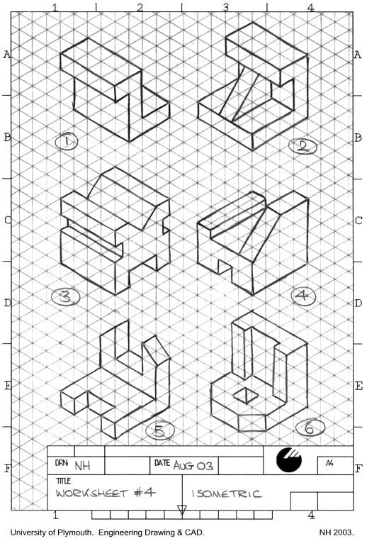 Image result for orthographic views exercises pdf | DESKTOP