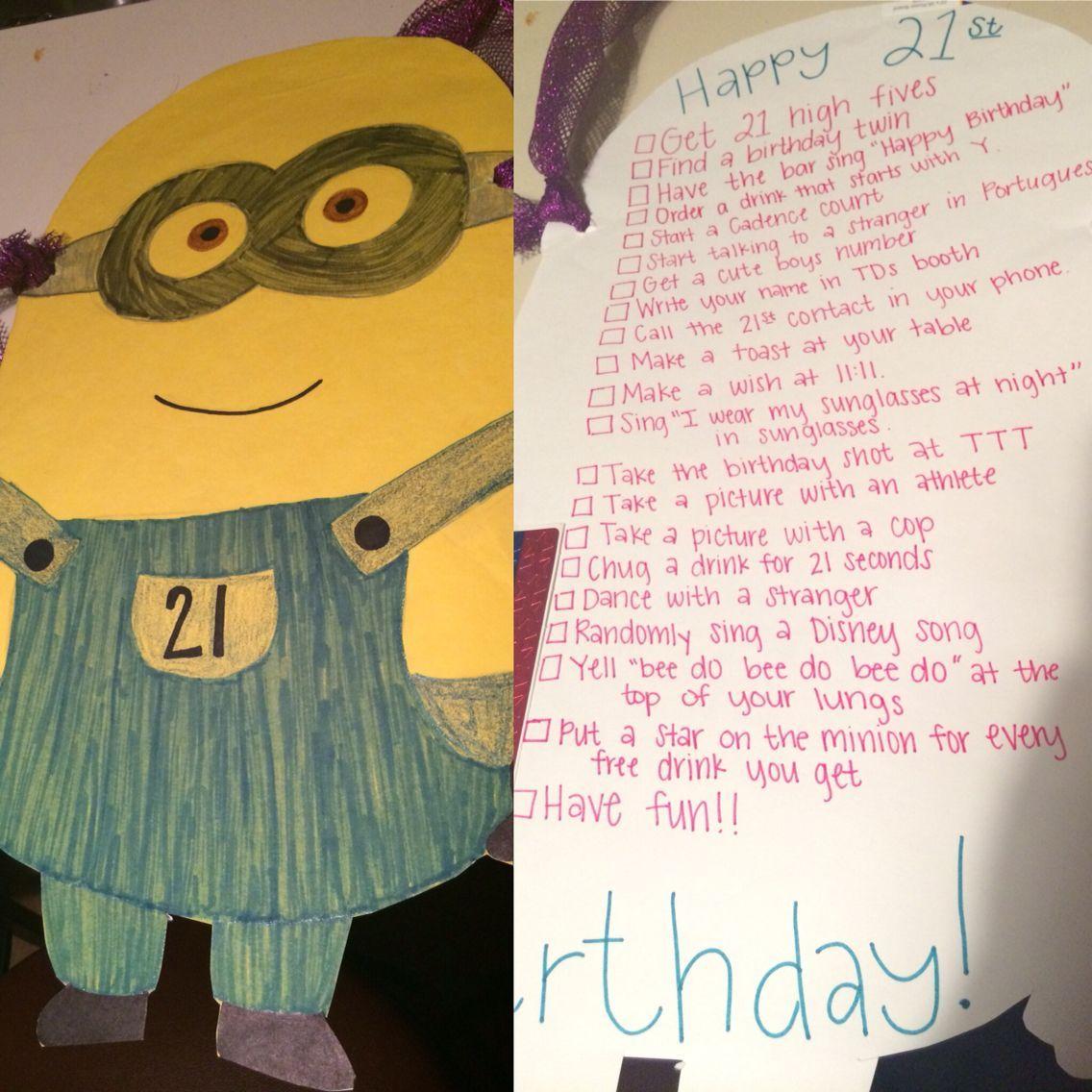 Minion 21st Birthday sign! #21stbirthdaysigns Minion 21st Birthday sign! #21stbirthdaysigns