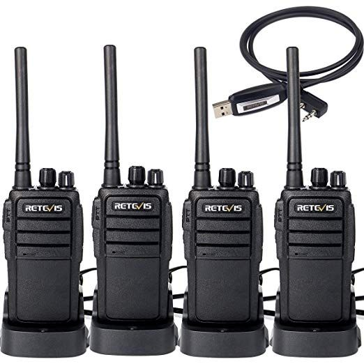 Retevis RT21 Two Way Radio Rechargeable 16 Channels FRS License-Free