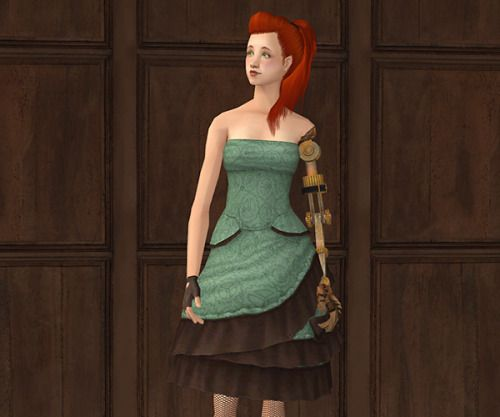 I was calmly browsing through GoS when I found this awesome steampunk dress by Keoni, and it's even sleveless, which means… armswap! :DThere you go, it comes in the original 3 colors, and has all morphs!Credits: Keoni (for the original dress) and Freezer Bunny (robot arm)Download! - Alternate