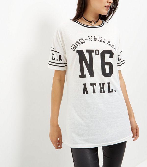 Cream No6 Athl Varsity T-Shirt  | New Look