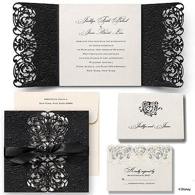 Inner Beauty Wedding Invitation Belle Michaels Custom Invites