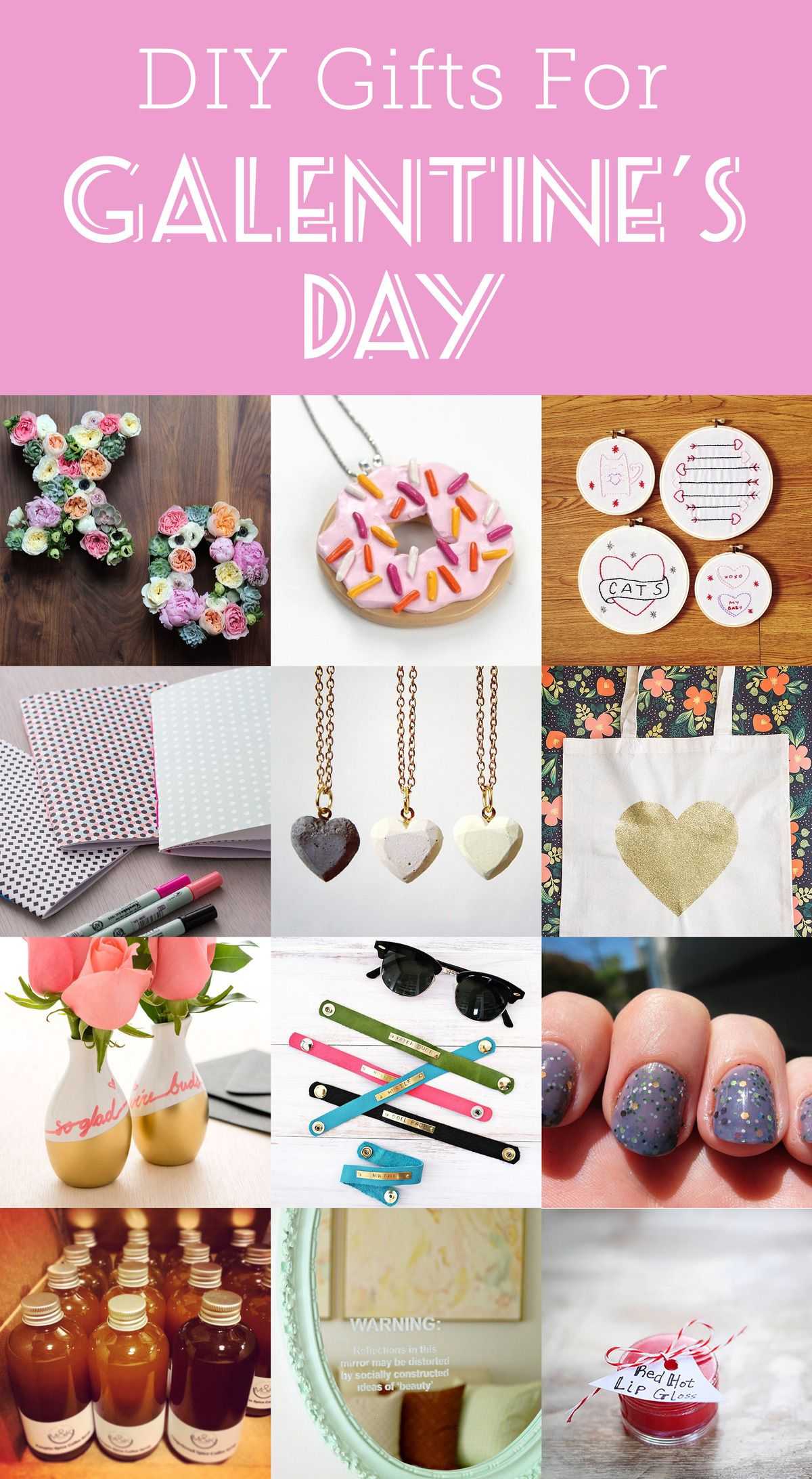14 Diy Gifts To Make For Galentine S Day Galentines Gifts Diy Gifts To Make Valentines Day Gifts For Friends