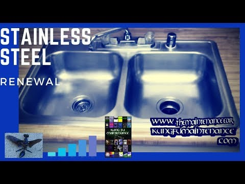 How To Regrain And Revive A Stainless Steel Kitchen Sink Youtube Stainless Steel Kitchen Sink Sink Kitchen Sink