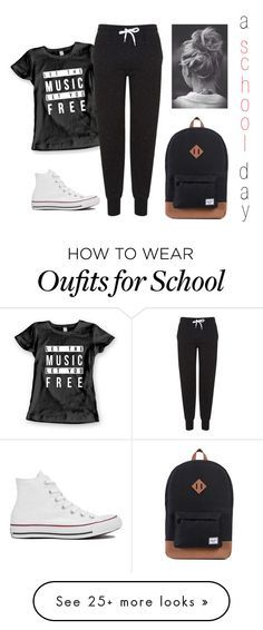 """""""a school day"""" by sarah-tav on Polyvore featuring Topshop and Converse"""