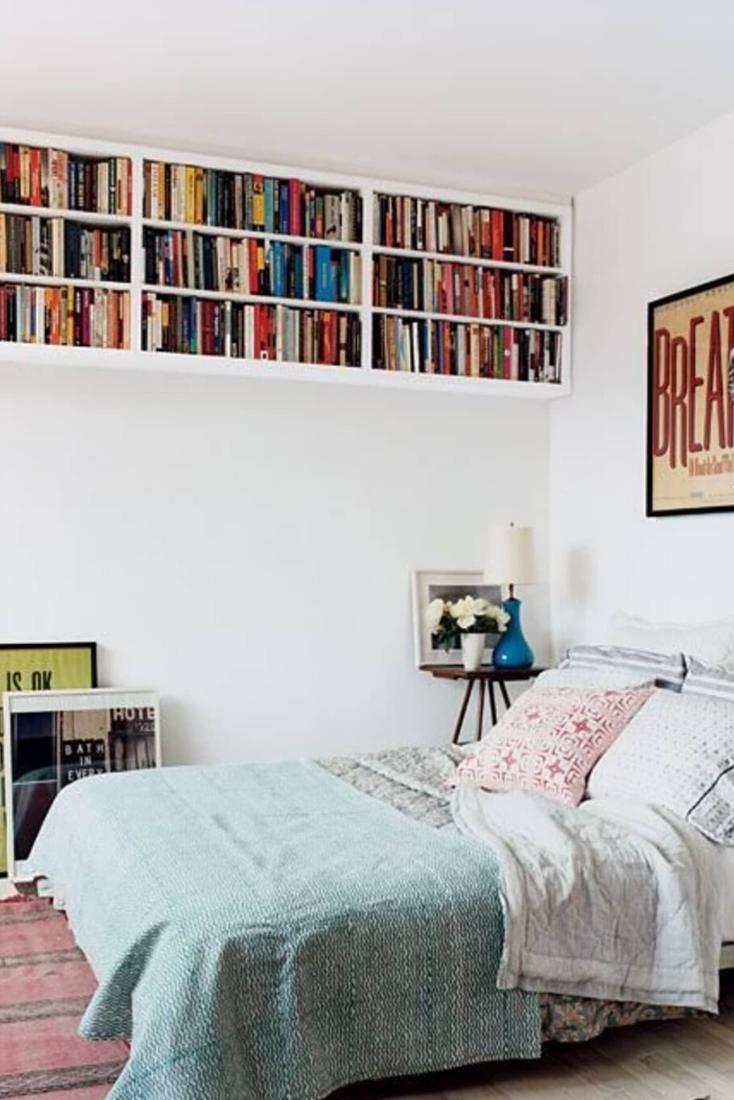 22 Modern Bedroom Shelves Design Photos And Ideas Di 2020 Kamar Tidur Kecil Ide Dekorasi Rumah Dekor