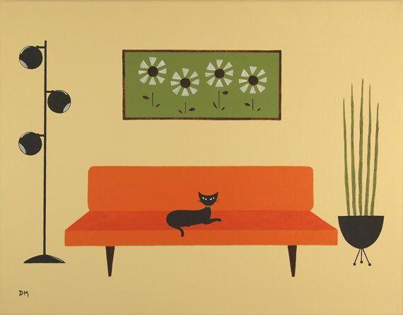 Mid Century Modern Art by Donna Mibus   Illustrationing   Pinterest ...