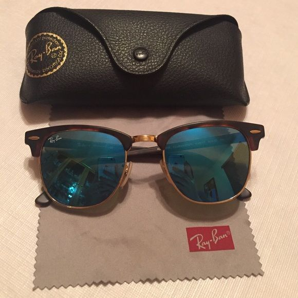ray ban clubmaster blue lenses  Ray ban clubmaster - blue lens