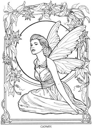 Floral Fairies Coloring Book | Coloring for Adults | Pinterest ...