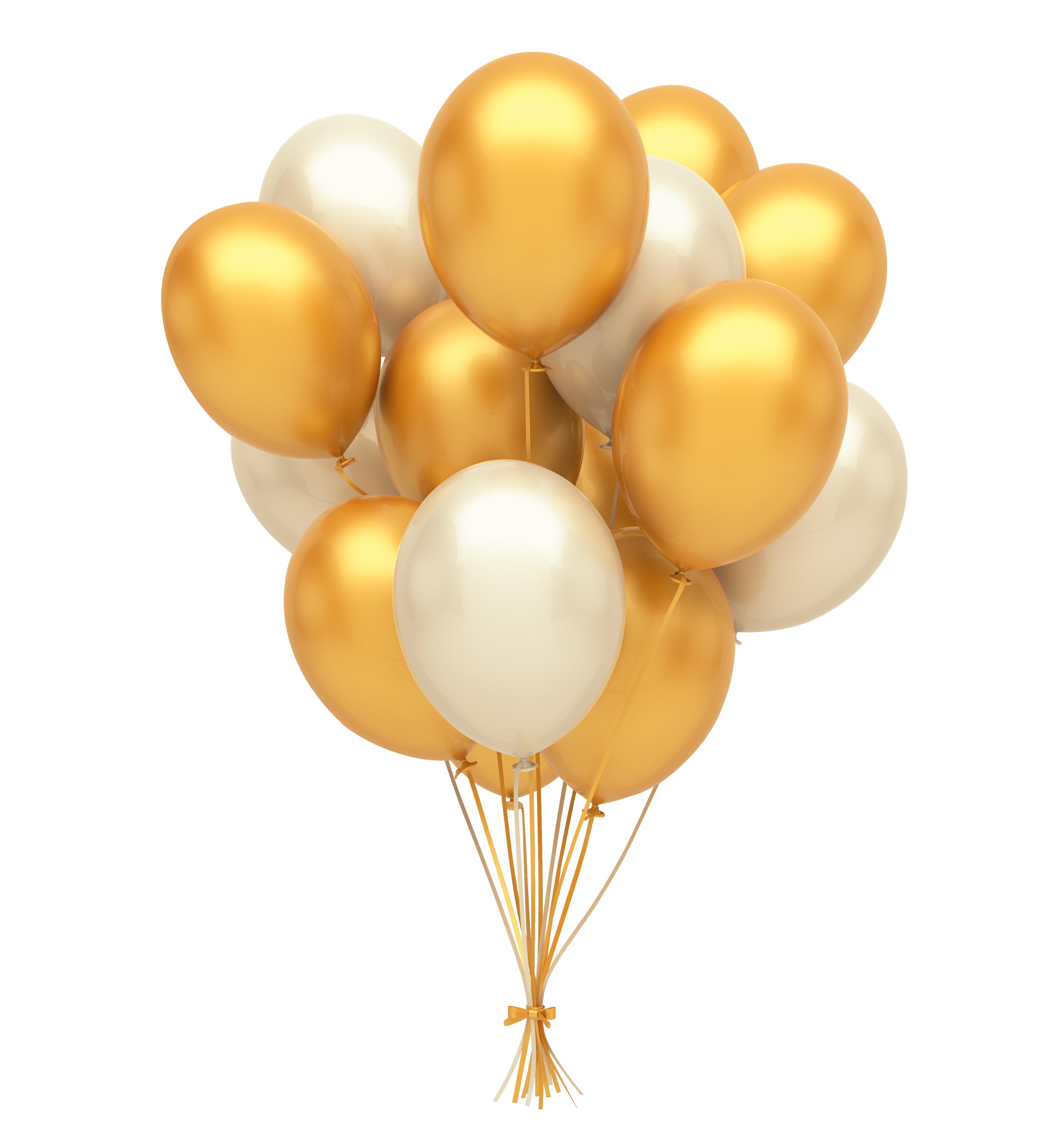Golden And White Balloons Png Silver Balloon Gold Balloons Balloons