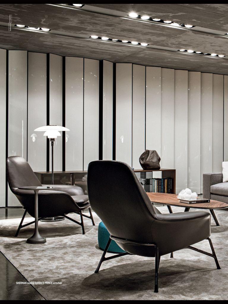 Minotti Prince Chair Minotti Furniture Design Lobby