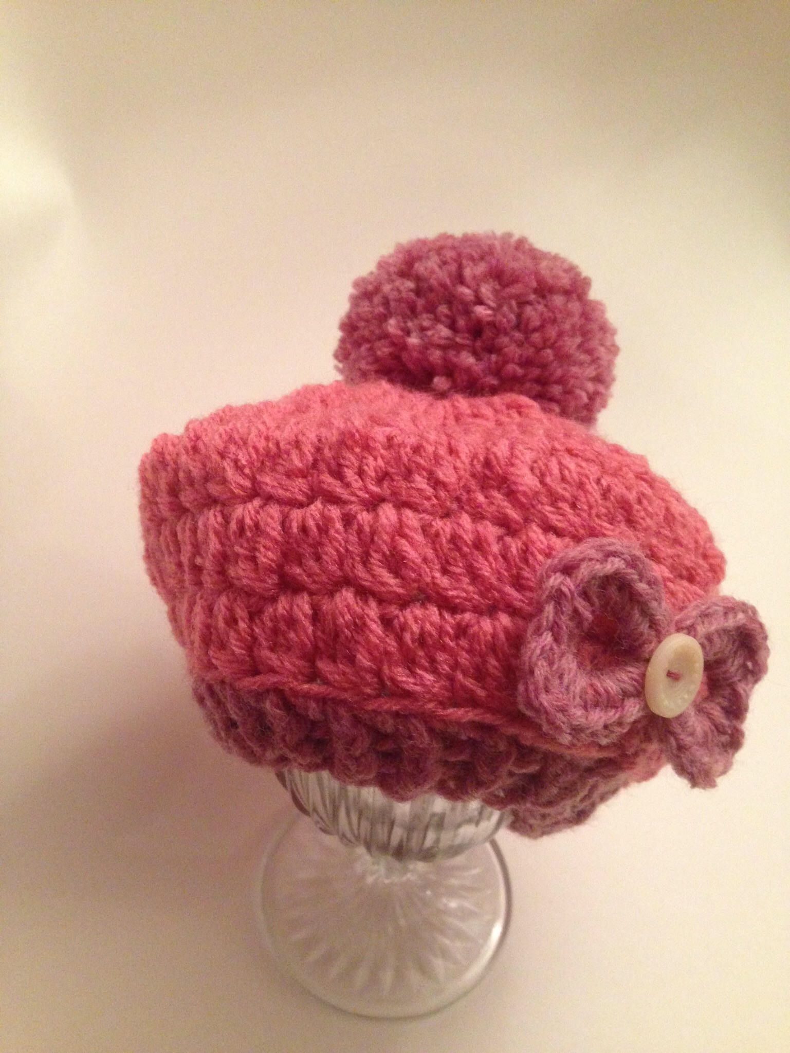 a633ea2b0ff Excited to share this item from my  etsy shop  2 Set Light Rasberry Crochet  baby diaper cover and beanie