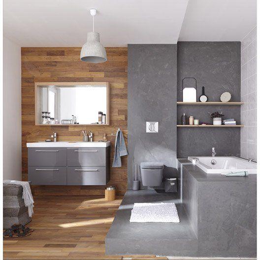 Meuble de salle de bains plus de 120 gris argent Remix