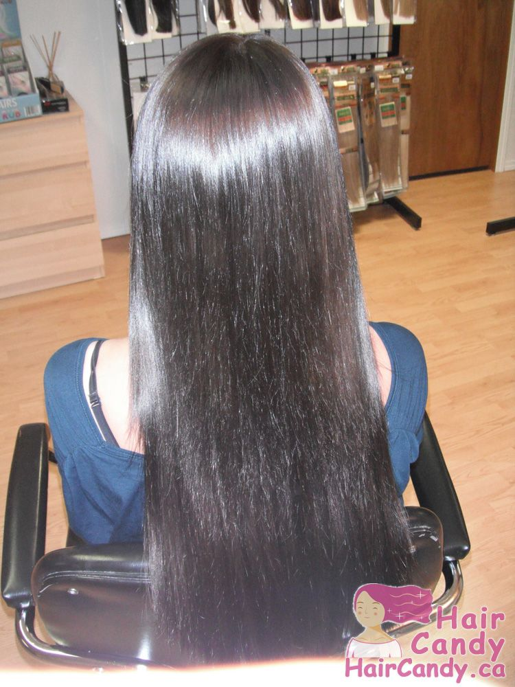 """A set of 18"""" Indian Remy Italian Keratin U-tipped Premium Double Drawn Hair for a customer in Edmonton"""