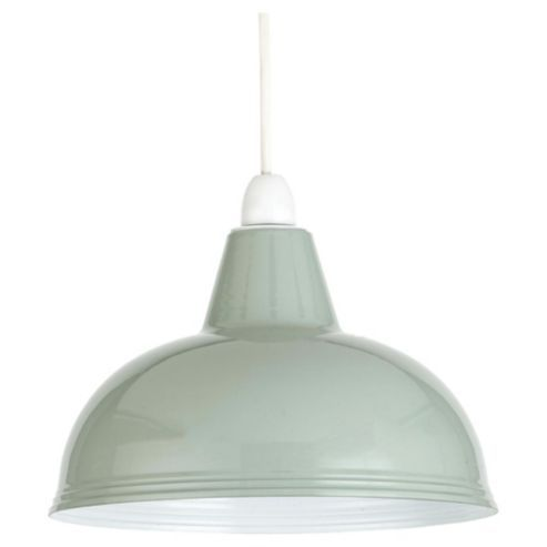 Thorpness Small Metal Pendant Shade Sage Green Lighting