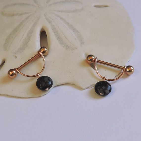 Rose Gold Nipple Rings ONE or a SET of 2 Nipple Jewelry