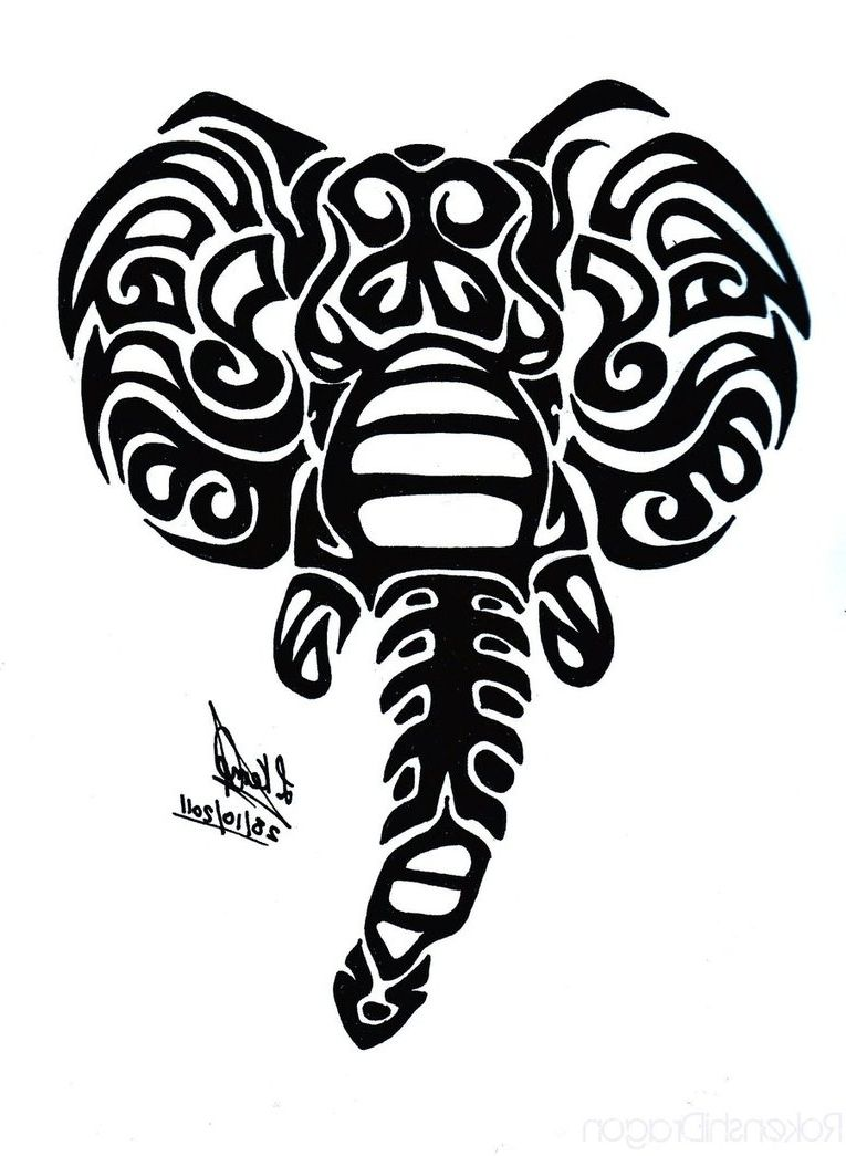 Tribal Elephant Tattoo Designs Tribal Elephant Tattoo On Ankle Tattoes Elephant Head Tattoo Elephant Tattoos Elephant Tattoo Tribal