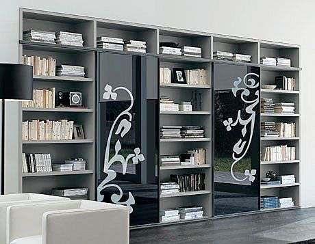 Bibliotecas modernas feli pinterest biblioteca for Bibliotecas muebles