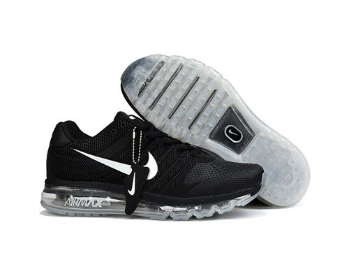 The whole Nike Air Max 2017 Women Men Black White Sole KPU Shoes appearance  look better, and more sporty, suitable for mild exercise or everyday wear.