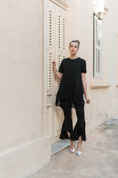Trend-Check: Die Volant Hose #volant #pants #allblack #styleblogger #fashionblogger #modeblogger #ootd #outfitoftheday #fashionblog