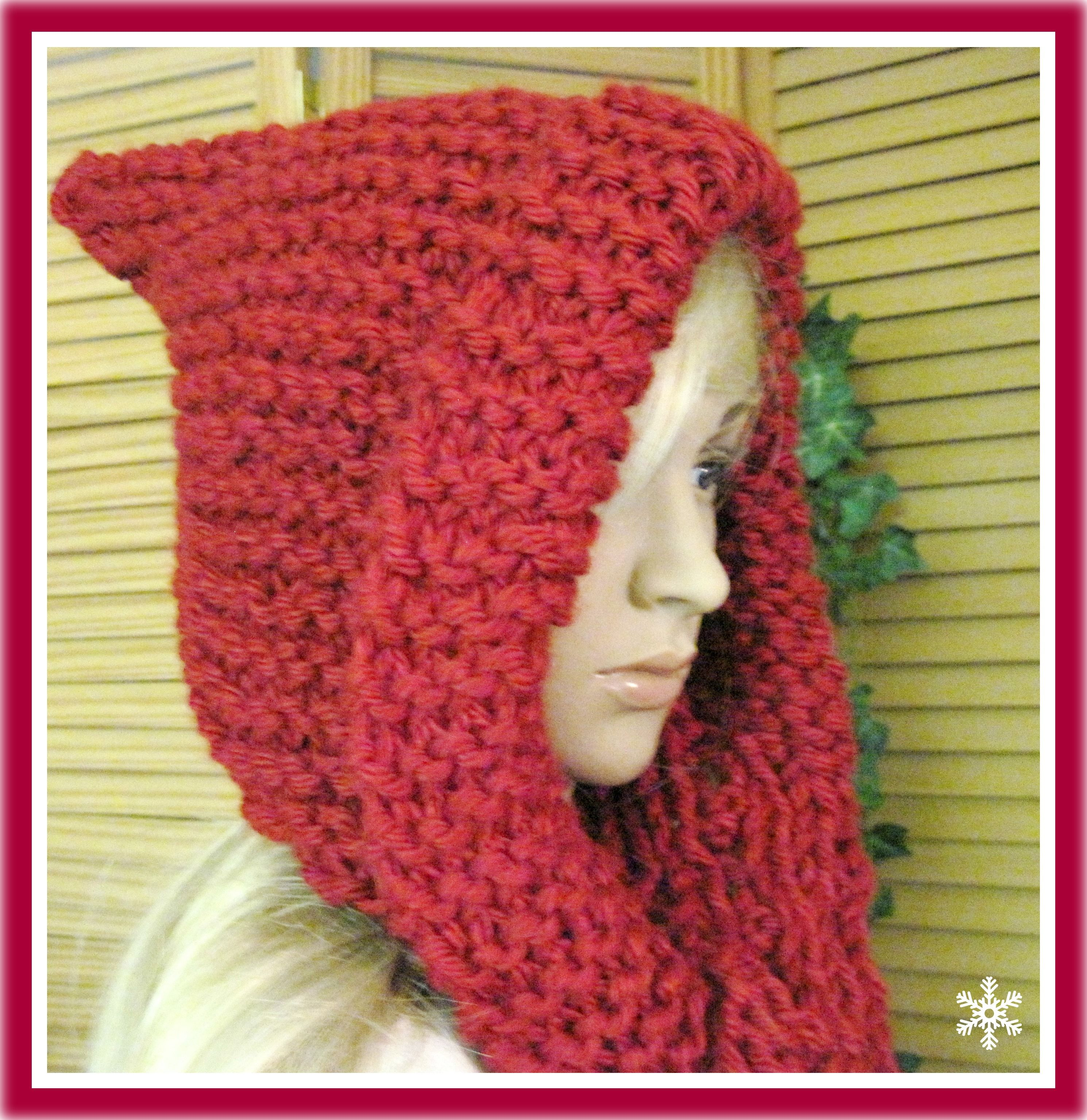 Big collar vest teen to adult knitting pattern on luulla hats little red riding hood hooded scarf in bulky yarn knitting pattern adult size bankloansurffo Gallery