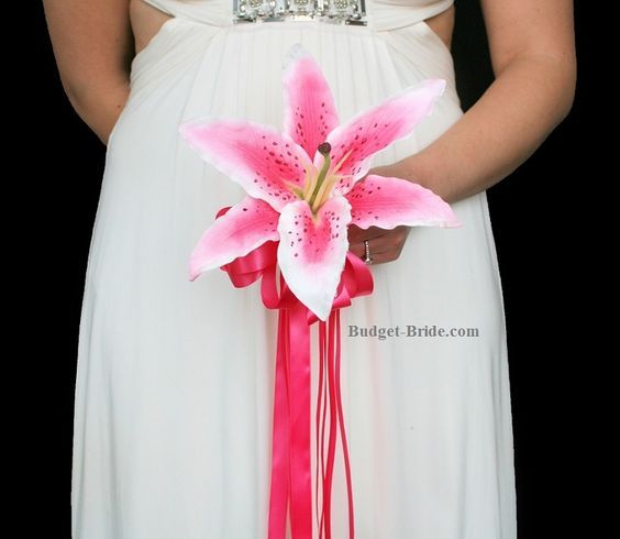 Tiger Lily With Babies Breath Bridal Bouquets Stargazer Lily