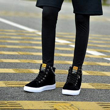 fashionable lace up hightop canvas casual shoes