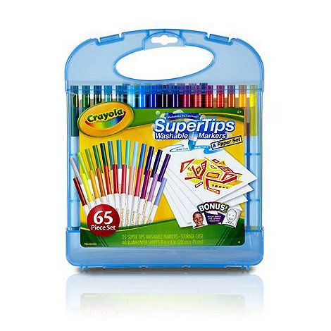 65Piece Non-Toxic Art Gift for A Crayola Twistables Colored Pencils  Paper Set