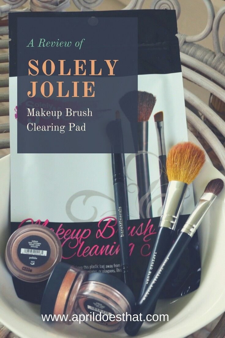 Solely Jolie Makeup Brush Clearing Pad Review Makeup