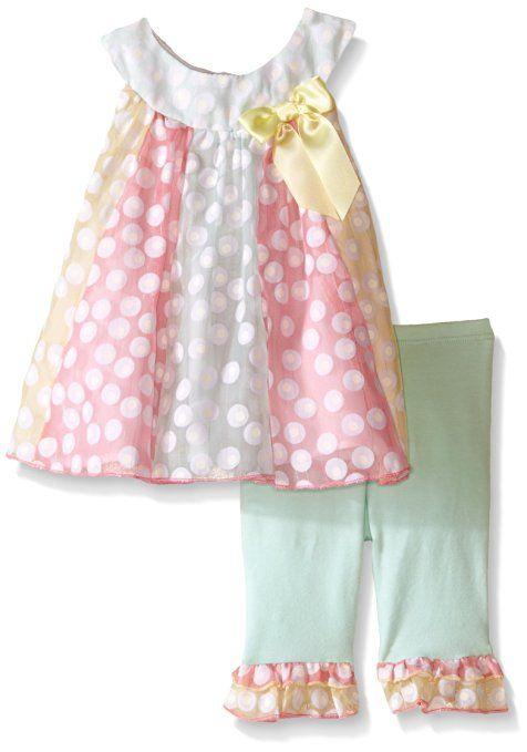 Bonnie Baby Baby Burnout Paneled Playwear Set, Mint, 18 Months