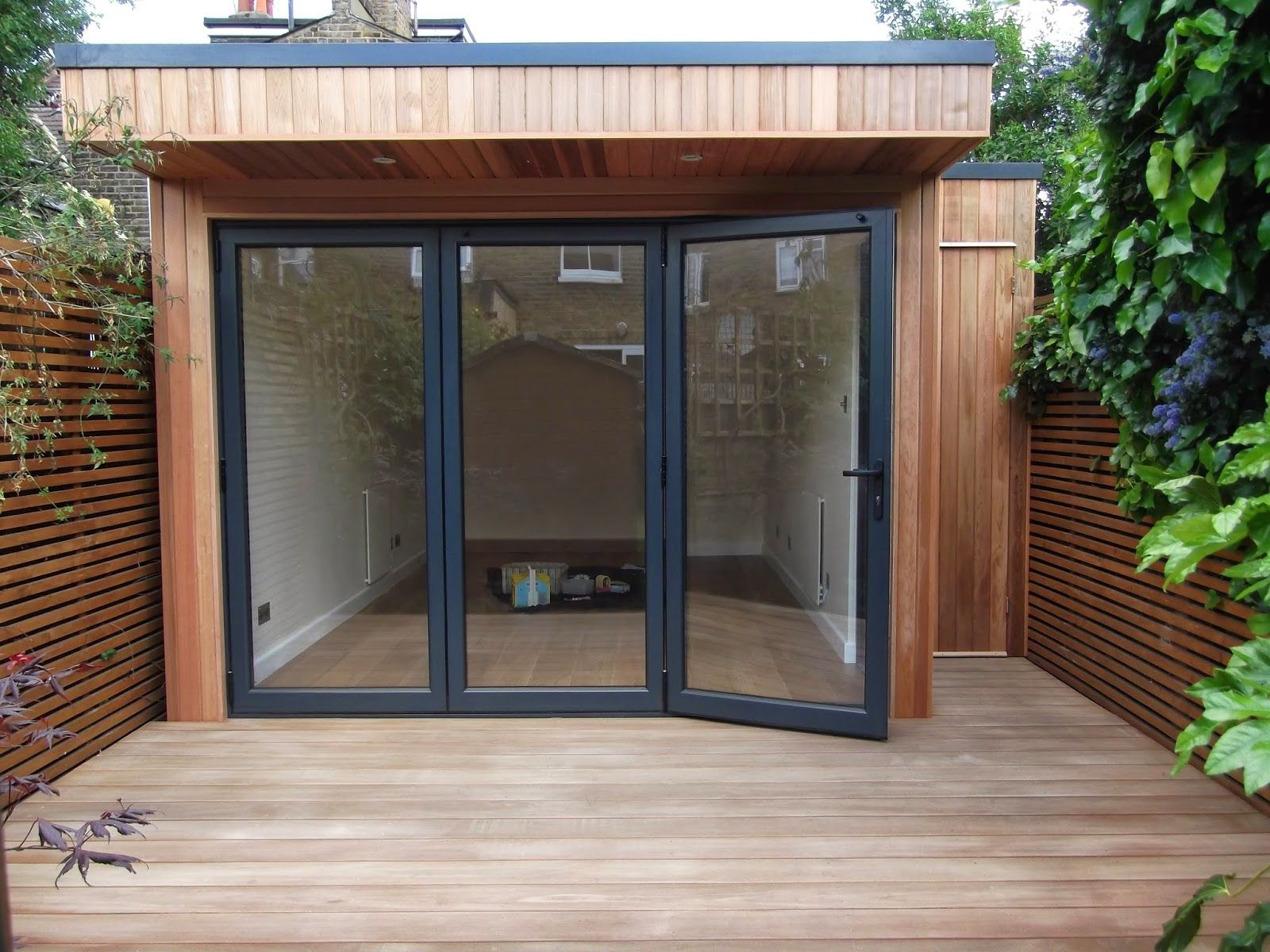 Outdoor Office In London With Integral Storage And Cedar Cladding
