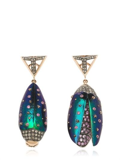 Bibi van der Velden Scarab Star earrings 1UxchKiLmv