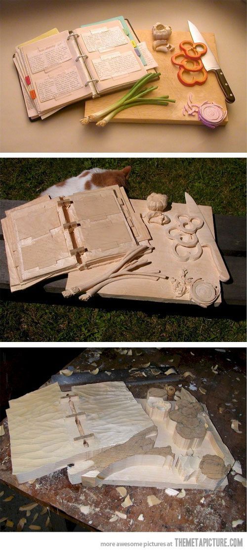 Hand carved from one block of wood