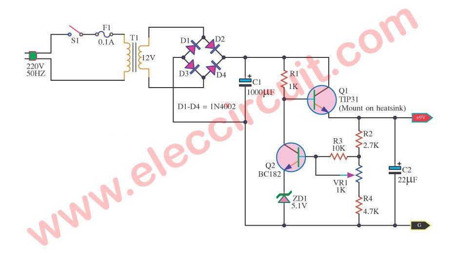 9v 5a Regulated Power Supply Circuit Diagram - Wiring Diagram Database