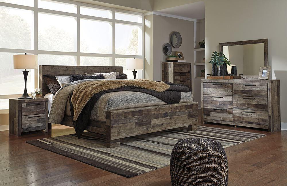 Derekson King Panel Bedroom Set in 2020 Grey bedroom set