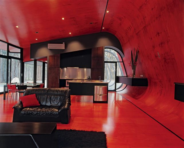 ultra modern black and red living room | Marvelous Interiors ...