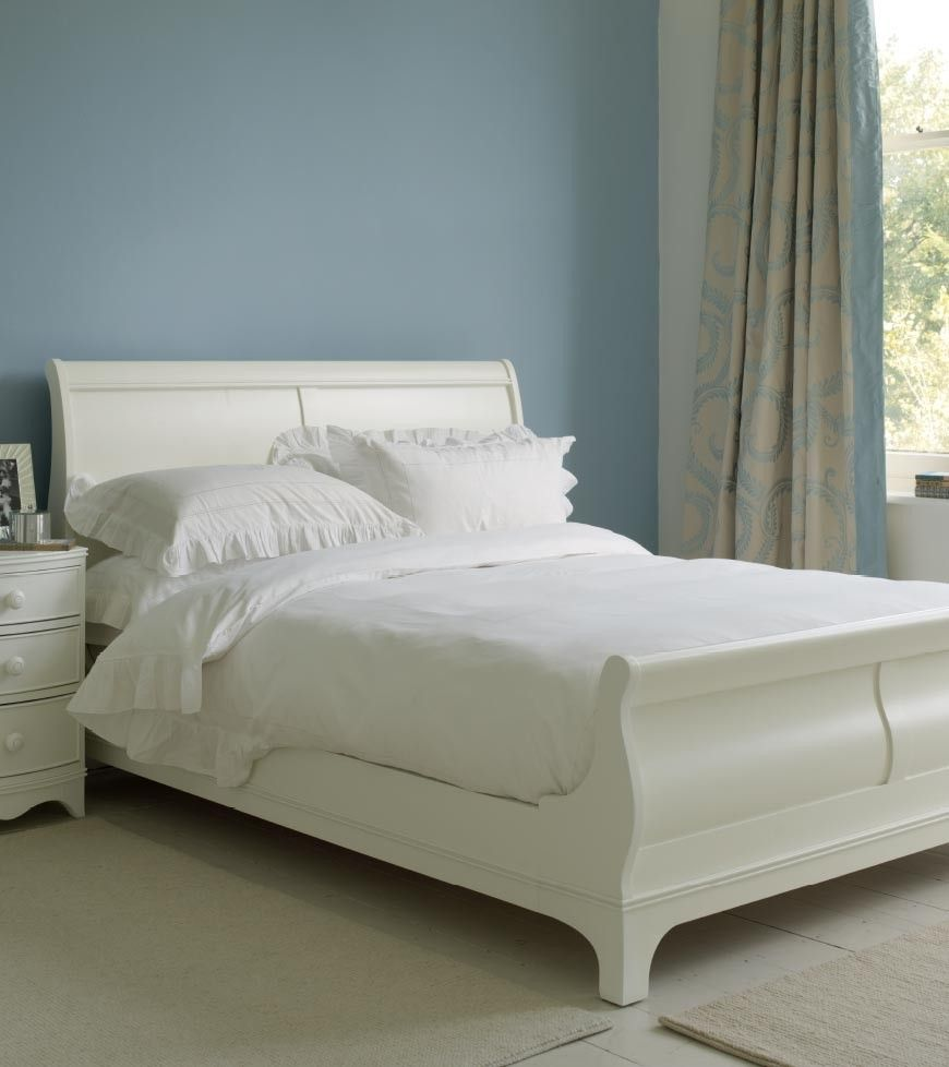 Broughton Sleigh Bed In Ivory Laura Ashley Ivory Bedroom