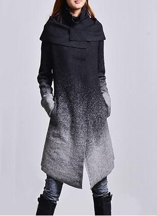 505a2bbdc9b74 Abrigos   Chaquetas Gabardinas Algodón   Mezcla de algodón Lana y lana  blend largo Manga larga (1715118625)
