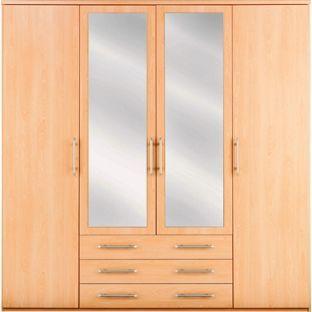 Vancouver 4 Door 3 Drawer Wardrobe Beech From Homebase