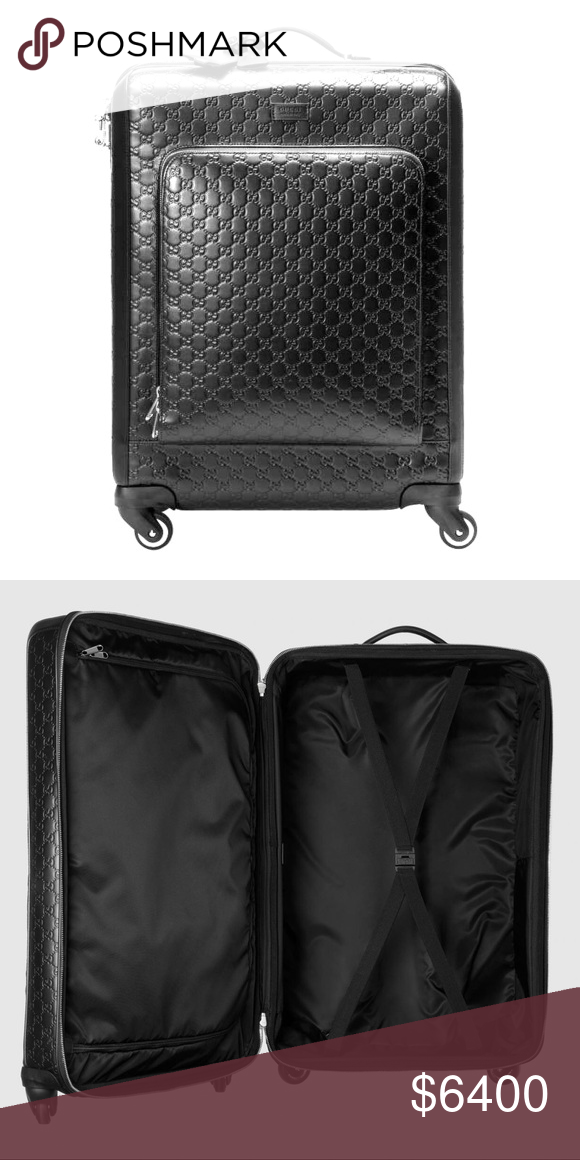 4e5ab87fd Gucci Signature Luggage Brand new unused medium-sized four wheel suitcase  made in heat debossed Gucci Signature leather with a defined print and firm  ...