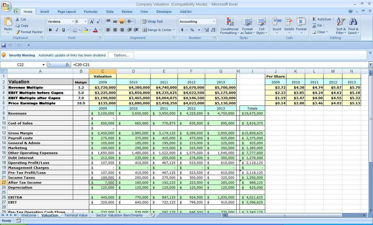 20 Business Plan Template Excel In