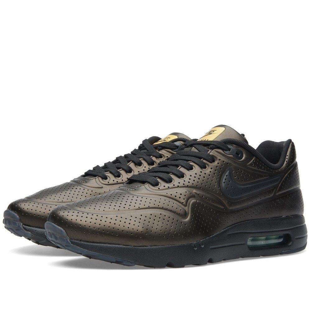 wholesale dealer 336c9 308f7 Nike Air Max 1 Ultra Moire (Metallic Gold  Black)