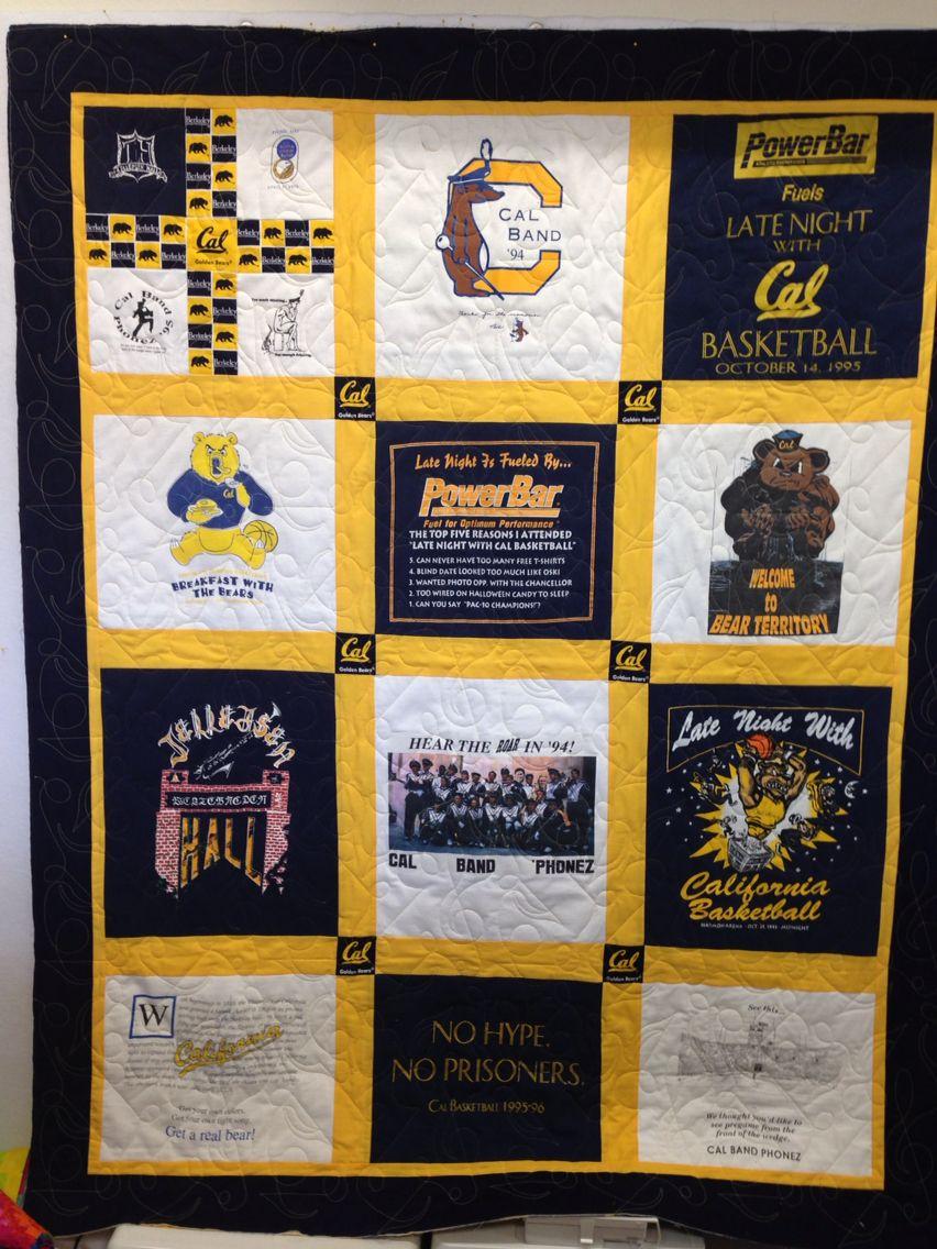 T Shirt Quilt Uc Berkeley Quilting Projects Shirt Quilt Quilts [ jpg ]