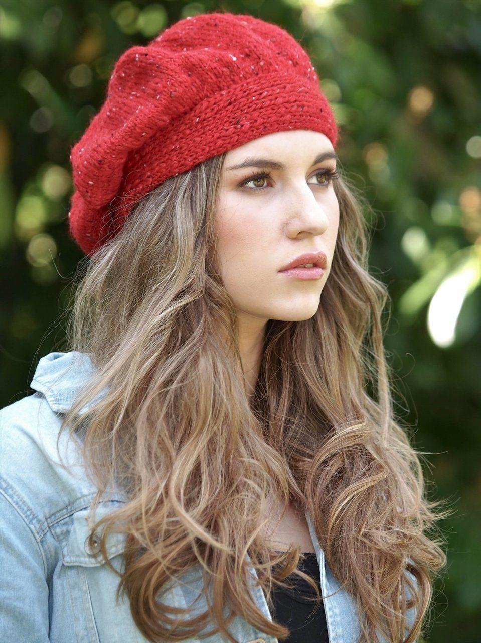 vermelha em tricô Boina De Lã e661d0f0063