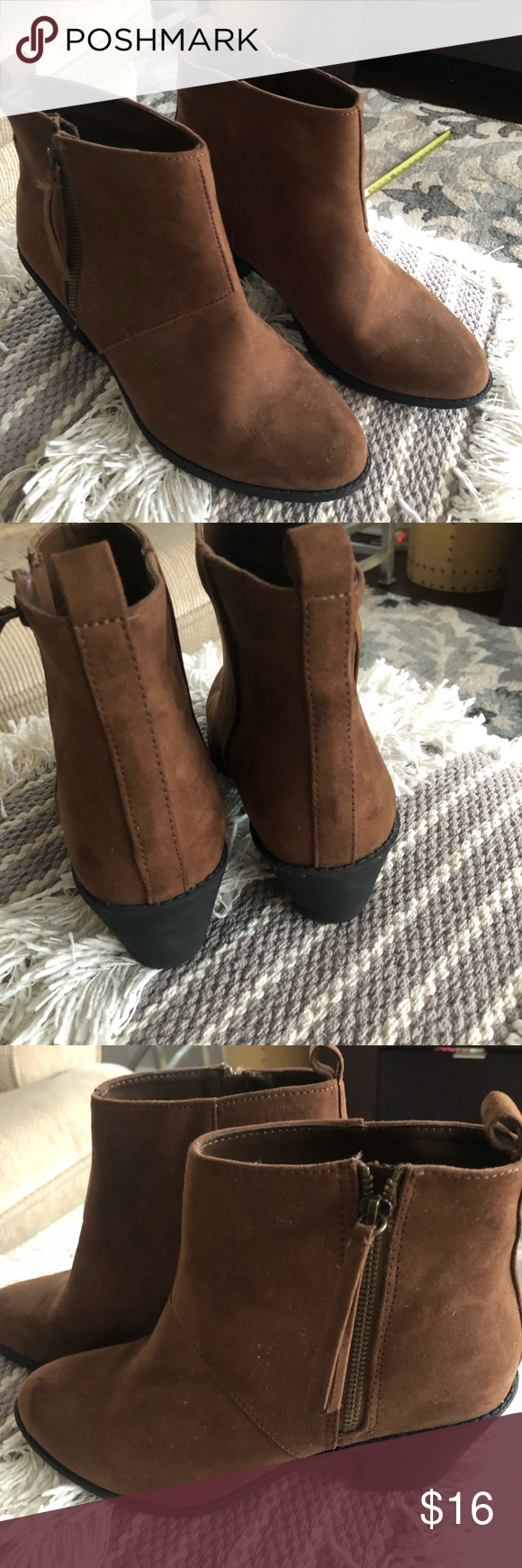 Forever 21 faux suede ankle boots in