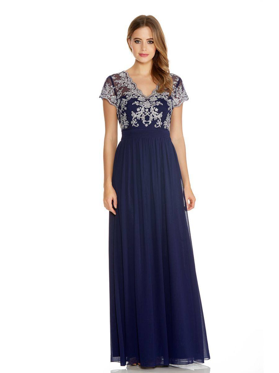 Black dress debenhams - Quiz Navy Diamante Keyhole Fishtail Maxi Dress Debenhams